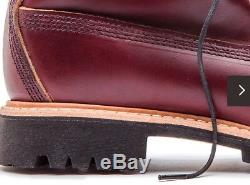 $500 TIMBERLAND BURGUNDY HORWEEN LEATHER 8 INCH BOOT MADE IN USA A1JXM648 Sz 10