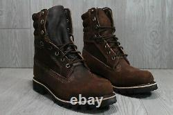 56 Timberland American Craft 8 Inch Brown Leather Boots Waterproof Sz 9 A1tdq