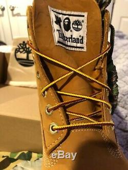 BAPE x TIMBERLAND x UNDEFEATED Premium Wheat 6 Inch Boots Men's Size 10.5
