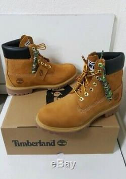 BAPE x TIMBERLAND x UNDEFEATED Premium Wheat 6 Inch Boots Men's Size 8.5