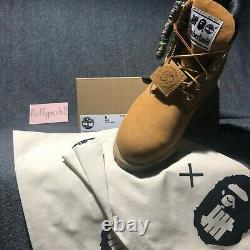 Bape x Undefeated x Timberland 6 Premium Boot A Bathing Ape size 9