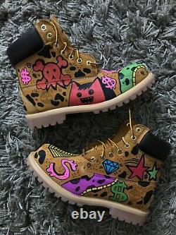 Custom handmade hand painted one of one unisexTimberland boots all sizes