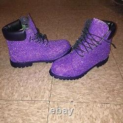 Hand Customized Purple Reign Timberland 6 inch Boot (Made by the order)