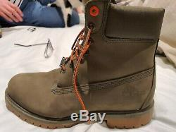 LIMITED EDITION and RARE Timberland HERITAGE Green Suede 6 Boot WATERPROOF NEW
