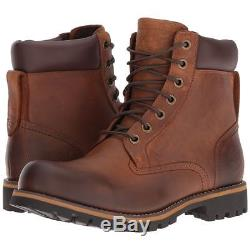 MENS TIMBERLAND EARTHKEEPERS RUGGED BROWN LEATHER BOOTS hiking chukka work congo