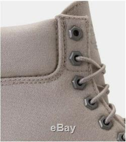Men's Timberland 6 Inch Premium Thread Canvas Boots Off White/Pure Cashmere