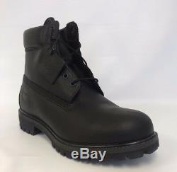 Men's Timberland 6 Premium Leather Waterproof Work Boots TB0A1MA6 Black Medium
