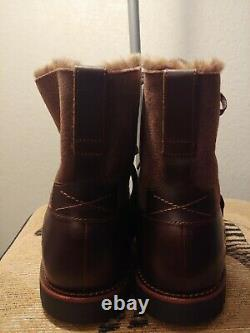 Men's Timberland Kendrick Shearling-Lined Dark Brown Leather Boot size 10.5