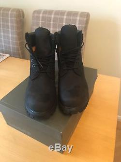 Mens Black Timberland Boots Size 8