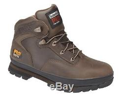 Mens Size 7 12 Timberland Euro Hiker 2g Brown Leather Safety Toe Work Boots