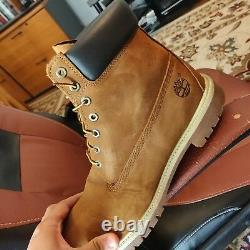 Mens Timberland 6 Inch Premium Boots Wheat Nubuck Size 13 Worn once