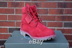 Mens Timberland 6-Inch Premium RED wide A1149 Waterpoof 8-13 LE Nubuck