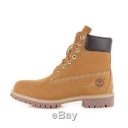 Mens Timberland Icon 6 Inch Premium Wheat Nubuck Leather Ankle Boots Size
