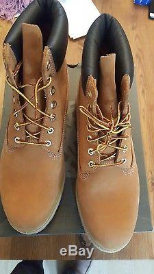 Mens Timberland Icon 6 Inch Premium Wheat Nubuck Leather Ankle Boots Size 11