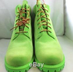 Mens Timberland X OFF WHITE Green Boots