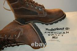 NIB Timberland Boots 8 American Craft Made In the USA 9.5 M $500 Dark Brown