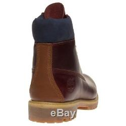 New Mens Timberland Brown 6` Premium Leather Boots Lace Up