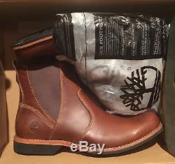 New Timberland Mens Kendrick Chelsea Leather Slip On Boots Brown. Size11