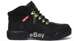 SUPREME X TIMBERLAND FIELD BOOTS BLACK UK 8 New With Box And Receipt shoes
