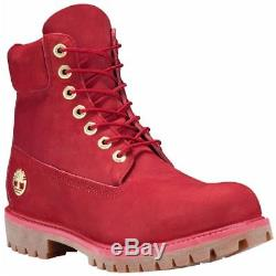 SZ 12 Timberland Limited Release Fire Red 6 Inch Waterproof Boots Men's A1JLT