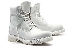 SZ 12 Timberland Men's 6 Inch Boots 100% Waterproof A1M6Q Ghost White TB0A1M6Q