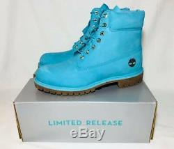 Size 10 Timberland Mens Limited Release 6 Inch Premium Waterproof Boots Blue