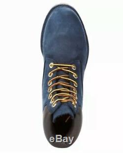Size 8.5 Timberland Mens 6 Inch Premium Waterproof Boots Navy Blue TB0A1B8P