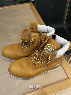 Stussy x Timberland 2014 6 inch boot supreme leather Size 8.5 US Limited