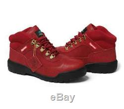 Supreme Timberland Field boot size 9 Red Brand New Limited