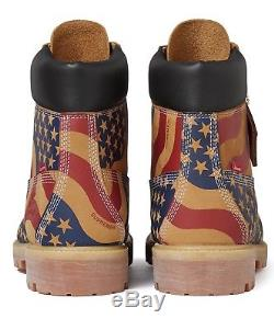 Supreme x Timberland 6 Inch Premium Boot Wheat Stars and Stripes Size 8-13 FW17