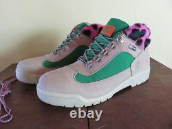 Supreme x Timberland Field Boots Tan / Green / Pink Leopard RARE + FREE SHIPPING