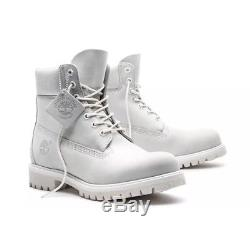 Sz 10 Men's Timberland Ghost White A1m6q Limited Release 6 Inch Boots Ds In Box