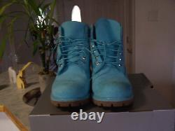 TIMBERLAND Limited Release Mens Blue Waterproof Lace Up Boots Size 11 M (NEW)