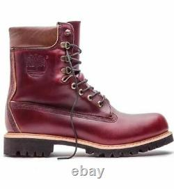 TIMBERLAND MADE IN THE USA 8 inch Premium Waterproof Boots Mens Burgundy A1JXM