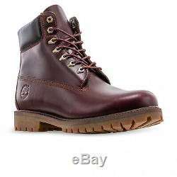 TIMBERLAND Men's 6 HERITAGE CLASSIC Bordeaux Premium Waterproof Boots #A22W9