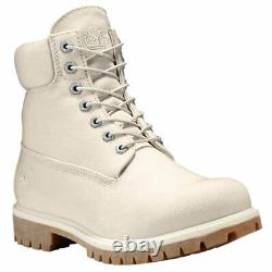 TIMBERLAND Men's 6-Inch Premium Thread Canvas Boots Pure Cashmere A1LWM NEW