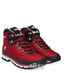 TIMBERLAND Men's Boot Euro Hiker Mid Jacquard Shoes A1362 Red UK 7 12.5