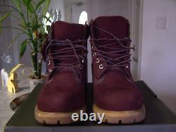 TIMBERLAND Mens Dark Red Waterproof Lace Up Boots Size 11 M