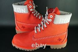 TIMBERLAND X NBA HOUSTON ROCKETS 6 Inch Premium Boots OG DS Genuine Red Leather