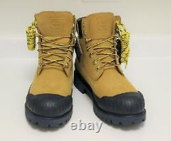 TIMBERLAND x BEE LINE 6IN Waterproof Rubber Toe Boots Wheat Navy US 9