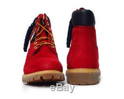 Tb0a1fnh Timberland 6 Inch Premium Red Mens Boots Size 10.5