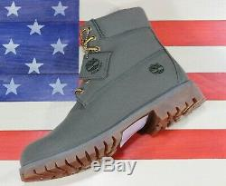 Timberland 6 Classic Premium Boot SAMPLE Canvas Fabric Olive Green A1PBX Mens 9