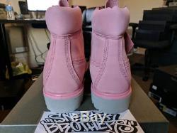 Timberland 6 Inch 6 Boots Premium Waterbuck Dusty Rose Pink Grey Limited A10GU