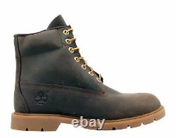 Timberland 6-Inch Basic Waterproof Brown Leather Men's Boots A111Q Size 9.5M