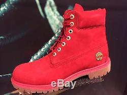 Timberland 6 Inch Boot A1JLT626 Fire Frost Collection Ruby Red Exclusive 8-13