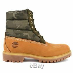 Timberland 6 Inch Classic Premium Mens Warm Yellow Camo Ankle Boots Size 7-11