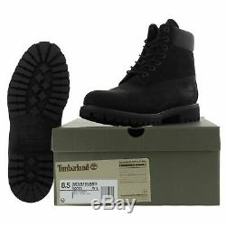Timberland 6 Inch Classic Premium Mens Wide Black Waterproof Boots Size 7-14.5