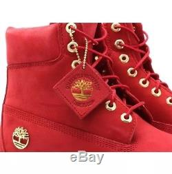 Timberland 6 Inch LIMITED RELEASE Premium WP Men's Boots Red tb0a1jlt Size 13M