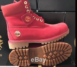 Timberland 6 Inch Men's Waterproof Premium Boots Color Red New