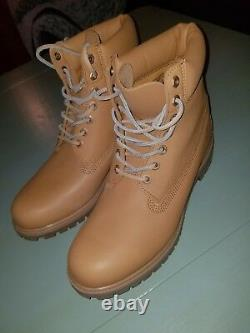 Timberland 6 Inch Premium Boot Natural HORWEEN Leather Limited TB0A11JJ Size 12
